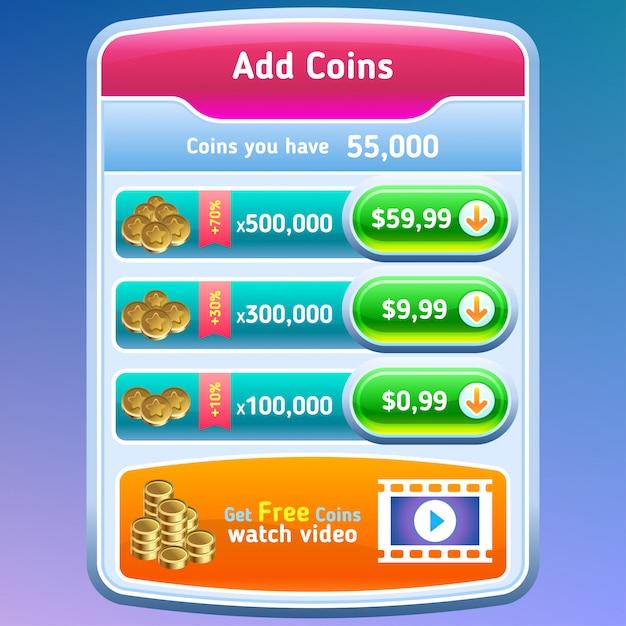 Spiel-benutzeroberfläche Premium Vektoren