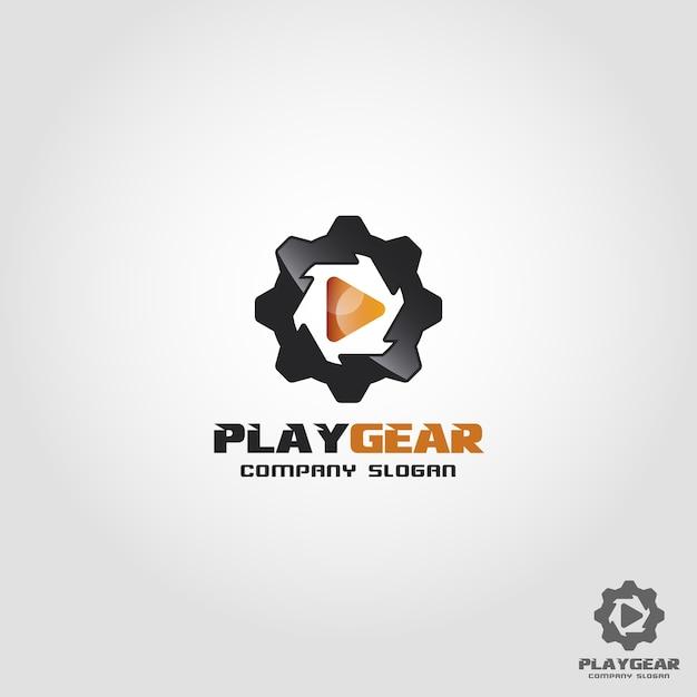 Spielausrüstung logo vorlage Premium Vektoren