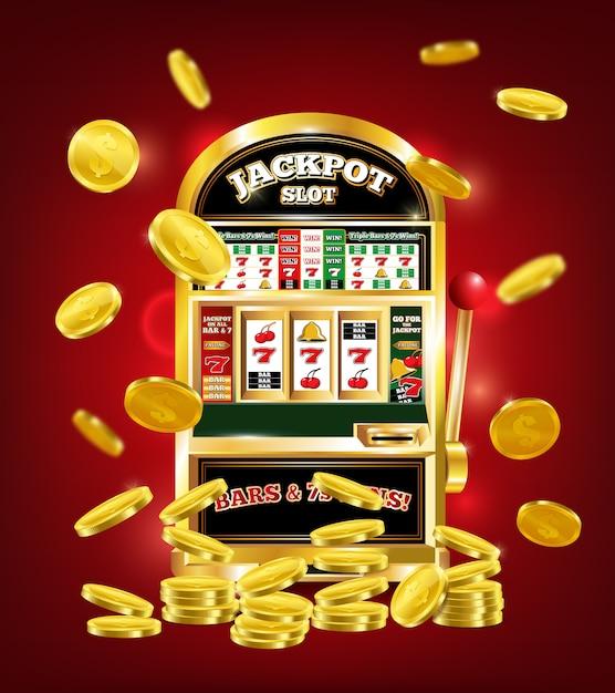 Spielautomat poster Kostenlosen Vektoren
