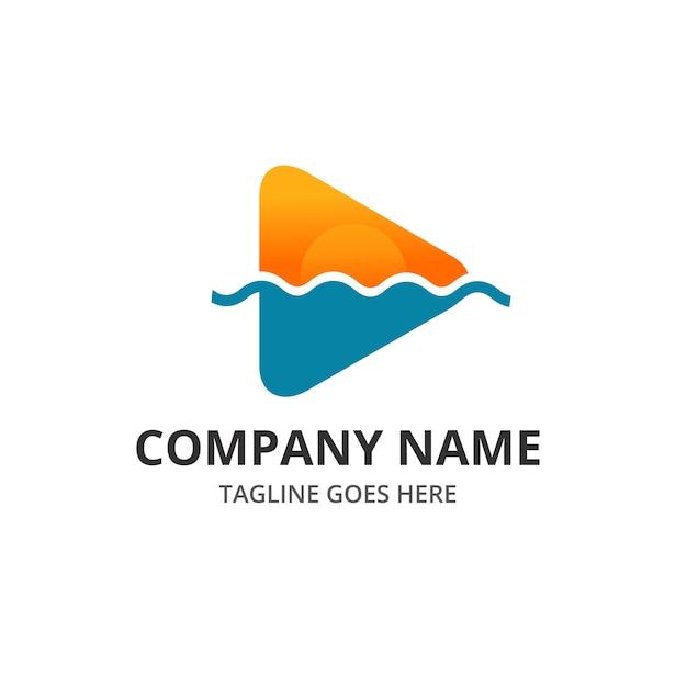 Spielen Sie Beach Sunset Logo Und Symbol Element Vorlage Premium Vektoren