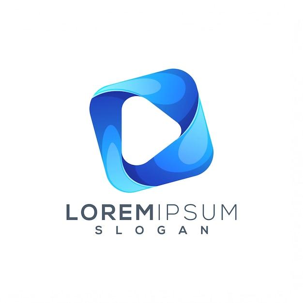 Spielen sie die logo-vorlage Premium Vektoren