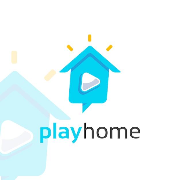 Spielen sie home logo Premium Vektoren
