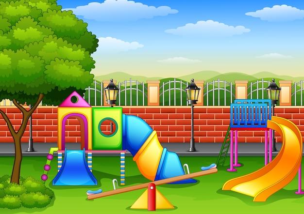 Spielplatz im park Premium Vektoren