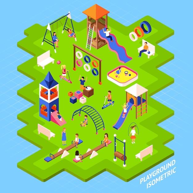 Spielplatz park poster Kostenlosen Vektoren