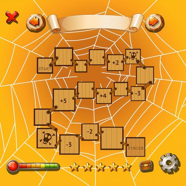 Spielschablone mit halloween-thema Kostenlosen Vektoren