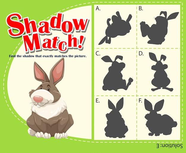 Spielschablone mit zusammenpassendem kaninchen Kostenlosen Vektoren