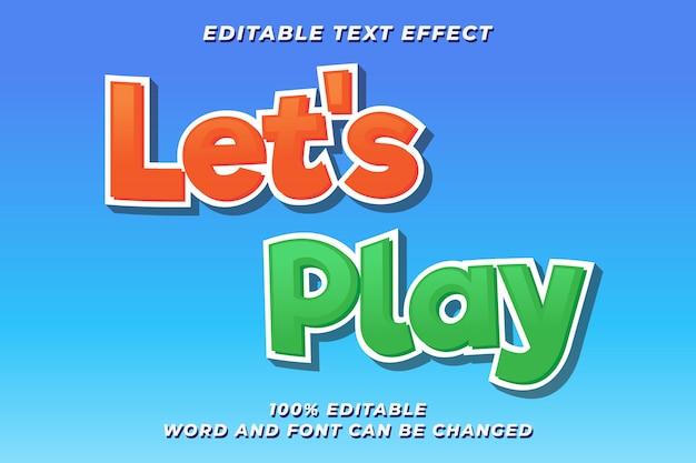 Spieltext stil effekt premium Premium Vektoren