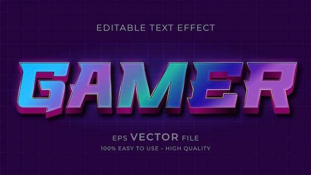 Spieltypografie bearbeitbarer texteffekt Premium Vektoren