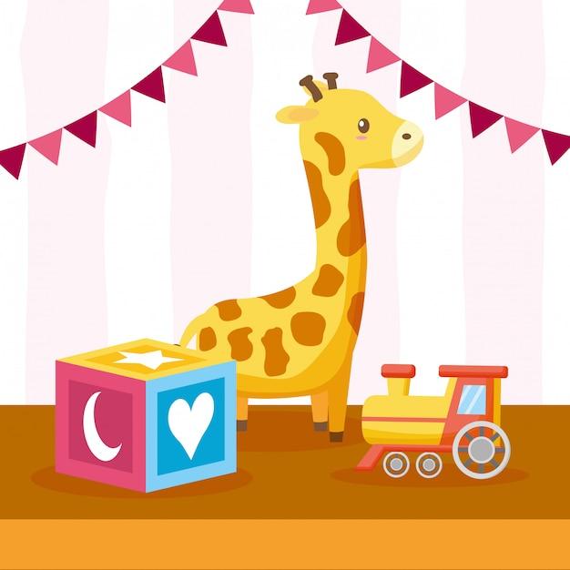 Spielzeug für die babyparty Kostenlosen Vektoren