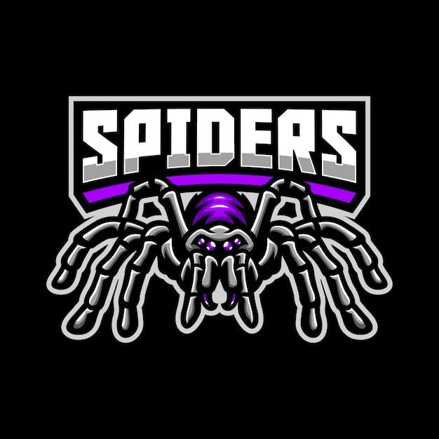 Spinne maskottchen logo vorlage Premium Vektoren