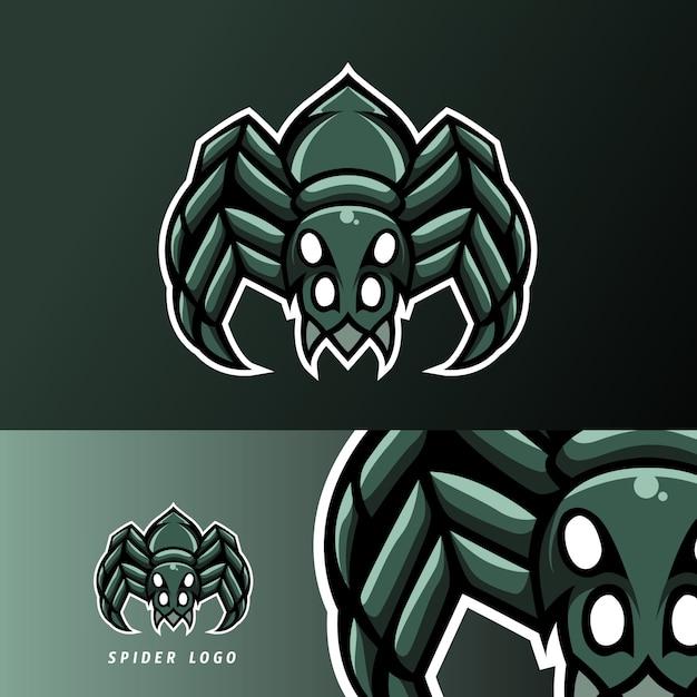 Spinne maskottchen sport esport logog vorlage Premium Vektoren