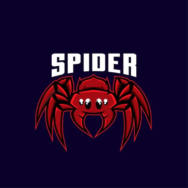Spinne sport logo abbildung Premium Vektoren