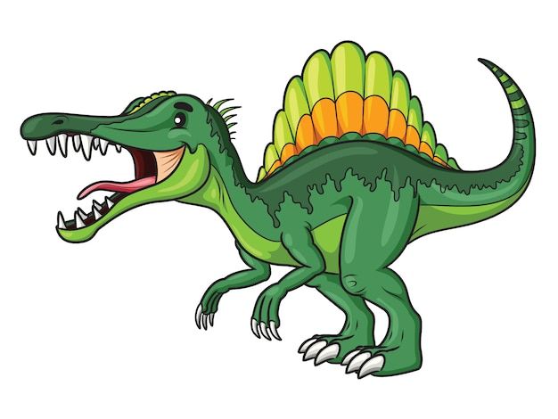 Spinosaurus cartoon Premium Vektoren