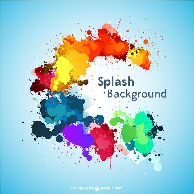 Splash-vektor-hintergrund kostenloser download Kostenlosen Vektoren