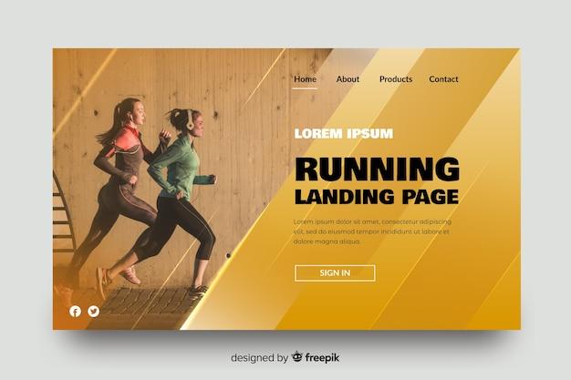 Sport-atletismus-landingpage Kostenlosen Vektoren