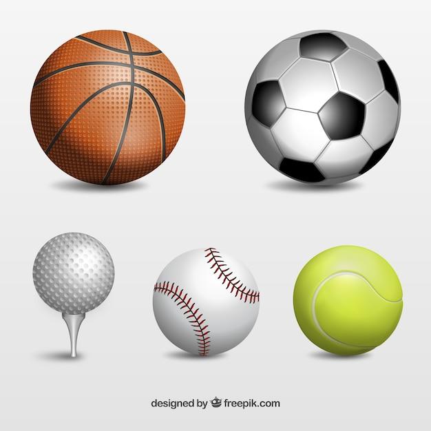 Sport balls Kostenlose Vektoren