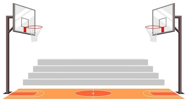 Sport-basketballplatz. sportmatch. Premium Vektoren