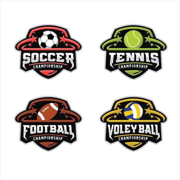 Sport des balllogos Premium Vektoren