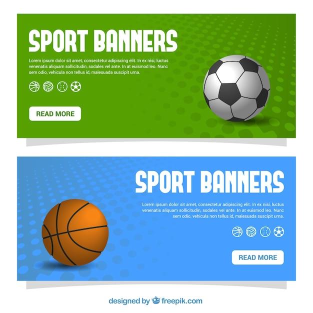 sport fahnen eingestellt  kostenlose vektor