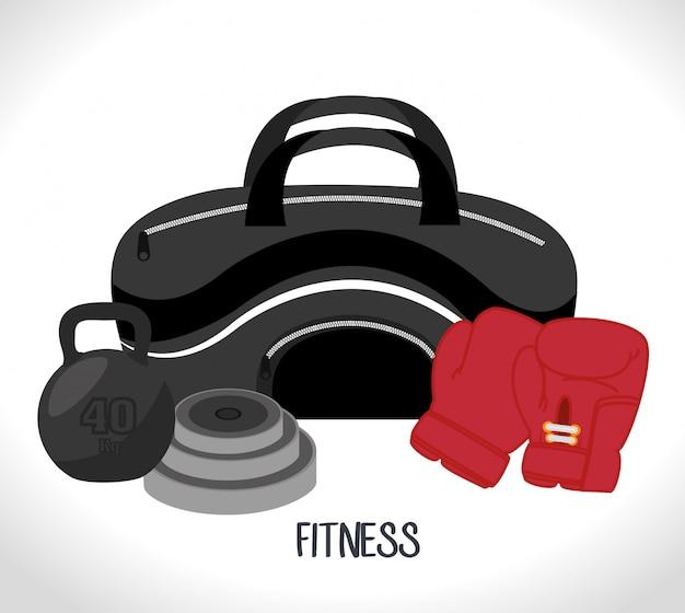 Sport fitness illustration Kostenlosen Vektoren