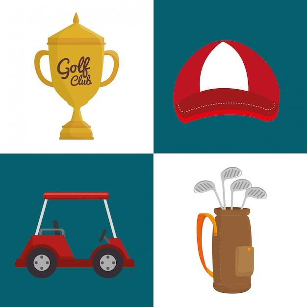 Sport golf club Kostenlosen Vektoren