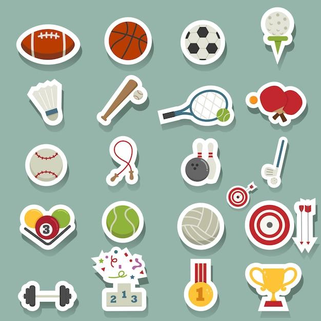 Sport icons Premium Vektoren