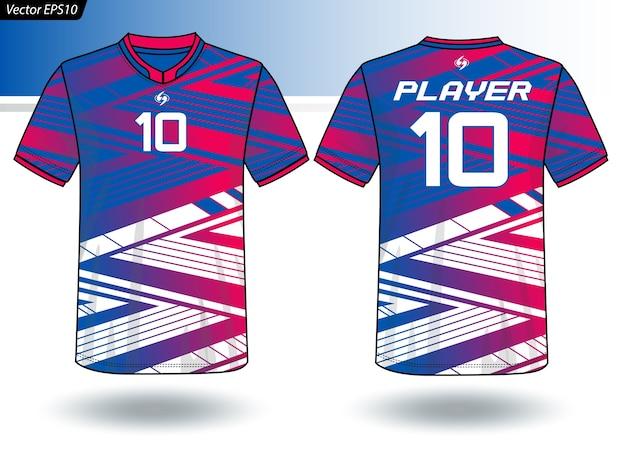 Sport jersey vorlage für team-uniformen Premium Vektoren