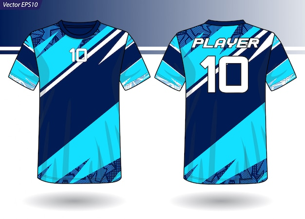 Sport-jersey-vorlage für teamuniformen Premium Vektoren