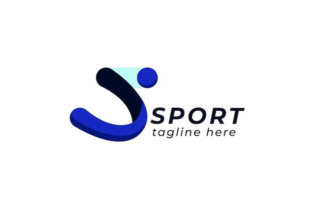Sport-logo-vorlage mit abstraktem symbol Kostenlosen Vektoren