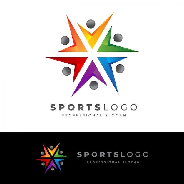 Sport-logo Premium Vektoren