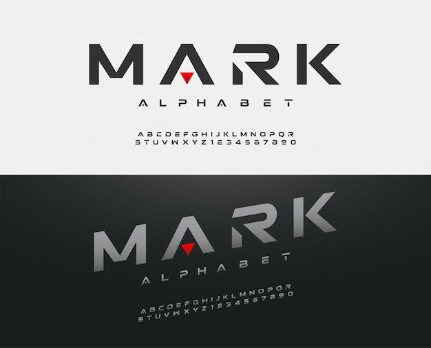 Sport moderne alphabet schrift. typografie-schriften Premium Vektoren
