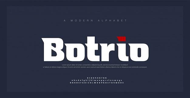 Sport moderne zukunft fett alphabet schriftart. typografie urban style schriftarten für technologie, digital, film logo fettdruck. vektorillustration Premium Vektoren