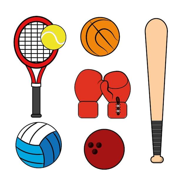 Sport spiel hintergrund symbol Premium Vektoren