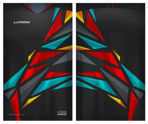 Sport t-shirt für fußball Premium Vektoren