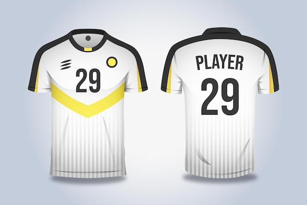 Sportausrüstung für fußballtrikots Premium Vektoren