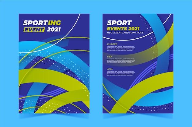 Sportereignisplakat für 2021 Kostenlosen Vektoren
