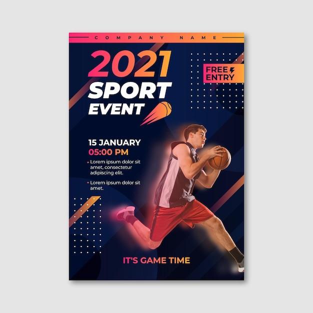 Sportereignisplakat Kostenlosen Vektoren