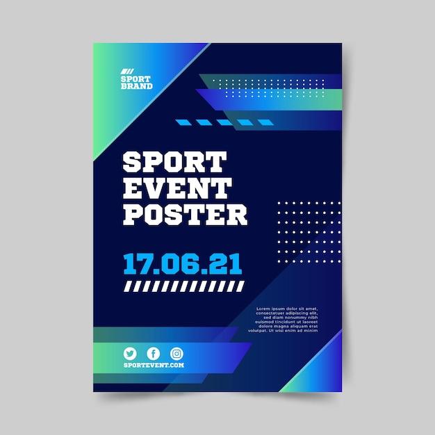 Sportereignisplakatvorlage für 2021 Kostenlosen Vektoren