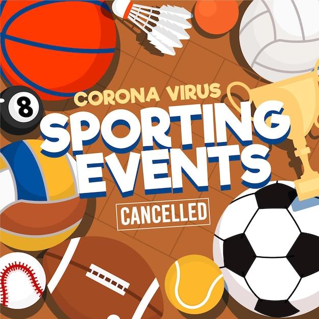 Sportereignisse abgesagt hintergrund Kostenlosen Vektoren