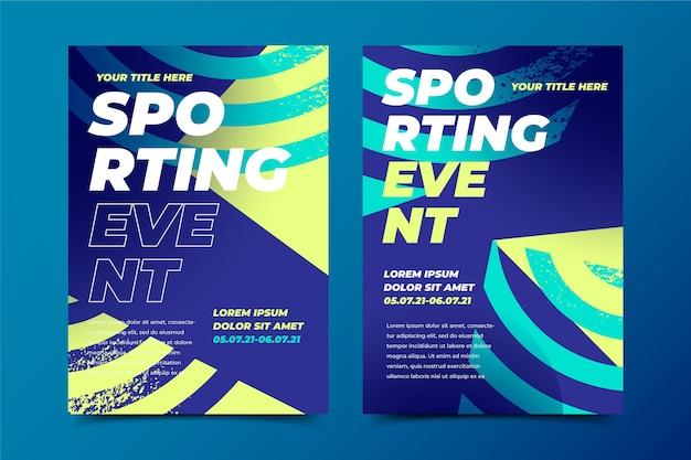 Sportereignisvorlage für plakat Kostenlosen Vektoren