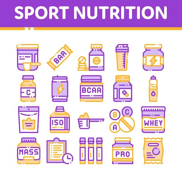 Sporternährungszellen Premium Vektoren