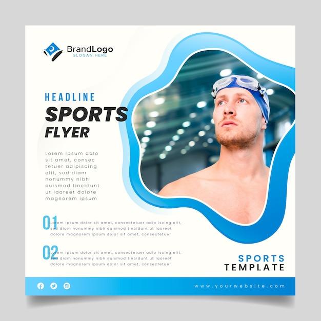 Sportflieger mit schwimmer Kostenlosen Vektoren