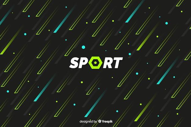 Sporthintergrund mit abstrakten formen Kostenlosen Vektoren