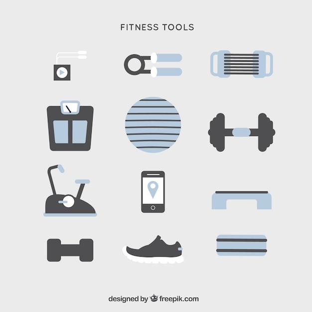 Sportlich-werkzeug sortimente Kostenlosen Vektoren