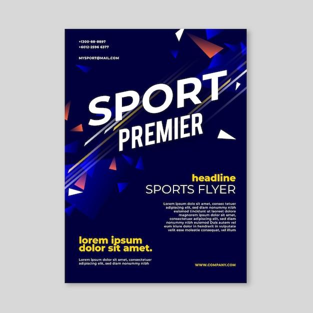 Sportplakatvorlage Kostenlosen Vektoren