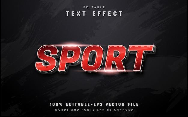 Sporttext, roter verlaufstext-effekt mit gepunkteter linie Premium Vektoren