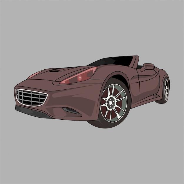Sportwagen-illustration Premium Vektoren