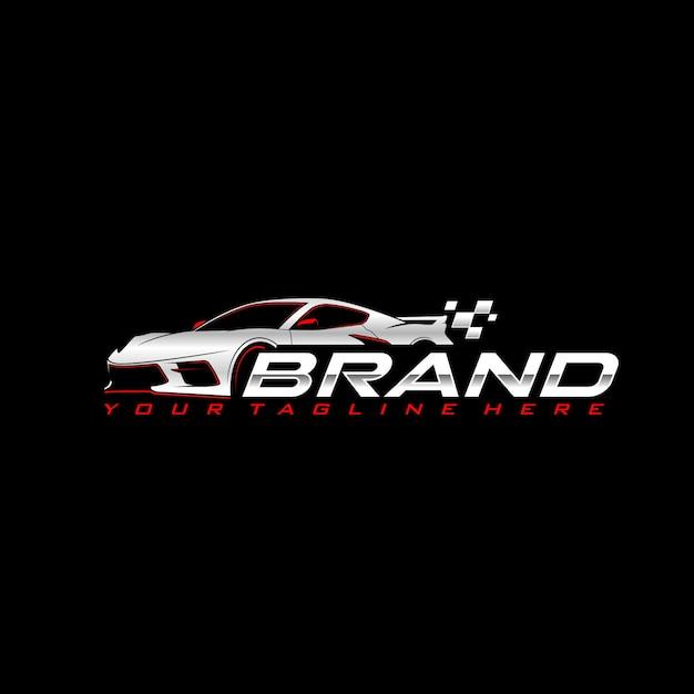 Sportwagen logo vorlage Premium Vektoren