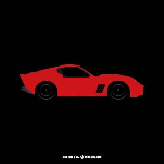 Sportwagen-logo Kostenlosen Vektoren