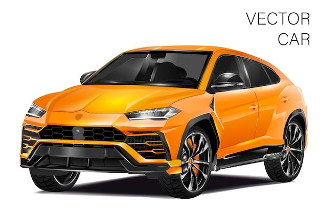 Sportwagenillustration Premium Vektoren